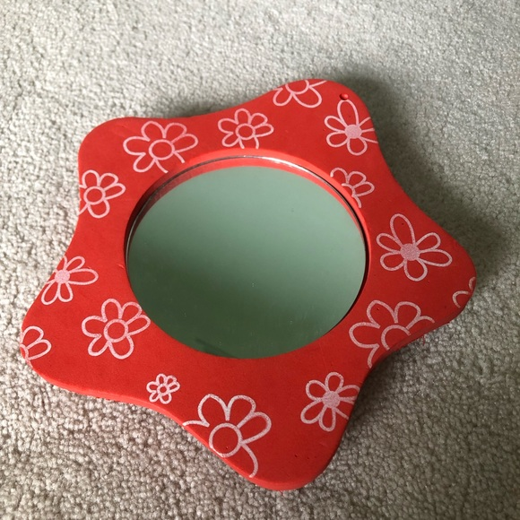 Other - Foam Bath Mirror | Orange Flowers | Suction Cup